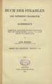 Bar Hebraeus, 1226-1286. Buch der Strahlen die groessere Grammatik des Barhebraeus : Uebersetzung...