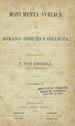 Monumenta syriaca ex Romanis codicibus collecta. (Oeniponti [Innsbruck] : Libreria Academica...