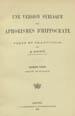 Hippocrates. Une version syriaque des Aphorismes d'Hippocrate. (Leipzig : J.C. Hinrich, 1903);