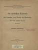 Die syrischen Kanones der Synoden von Nicaea bis Chalcedon. (Berlin : Weidmannsche Buchhandlung,...