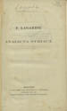 P. Lagardii Analecta Syriaca. (Lipsiae : B.G. Teubnerus, 1858);