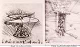 Study for an Aerial Screw and Design for a Flying Machine Guided by a Man;