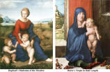 Raphael's Madonna of the Meadow and Durer's Virgin in Half Length;