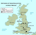 Diffusion of industrialization in Great Britain;