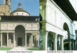 Brunelleschi Pazzi Chapel (Exterior and detail);
