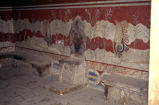 Throne Room at Knossos detail;
