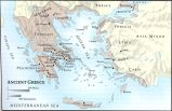 Ancient Greece Map;