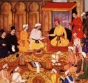 Akbar in House of Worship;