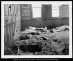 [Covered Bodies in Schoolroom after 1900 Scofield Mine Disaster]