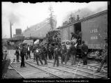 Scofield [Utah], Loading Bodies on to car # 69009 of D&RG Railroad to ship