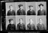 Stamp Pictures.  Hyrum Clyde boys: Harry, Dewey, Edwin, Grover, Willford