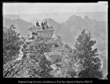 [Dorothy, Gordon, Mose, Russell, and Edgar at Grand Canyon Lodge, Grand Canyon of the Colorado];