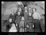 [George Beard Family up Chalk Creek above Coalville  Back: Arthur, Howard George, Edgar, Ethel....