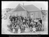 [Schoolhouse probably at Coalville. 2 teachers. 60 pupils]