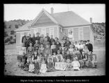 [Coalville's 2 room schoolhouse. 2 teachers. 60 pupils]