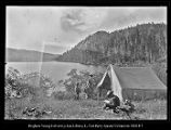 [Paul, Mother, and Albert. Freemont's Lake, Wyoming];