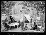 [Beard camp at China Lake, High Uintahs: Howard, Edgar, Ethel, Judith (daughter in law) Arthur,...