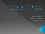 Developing a College-level Speed and Accuracy Test