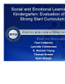 Social and Emotional Learning in Kindergarten:  Evaluation of the Strong Start Curriculum