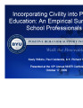 Incorporating Civility into Public Education:  An Empirical Survey of School Professionals