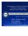Increasing the Social Involvement of Withdrawn Adolescents:  Effects of Peer Praise Notes