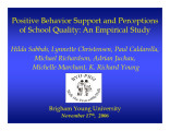Positive Behavior Support and Perceptions of School Quality:  An Empirical Study