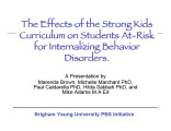 The Effects of the Strong Kids Curriculum on Students At-Risk for Internalizing Behavior Disorders