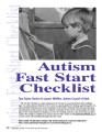 Autism Fast Start Checklist