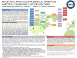 Modeling Larege-Scale Historical Migration Patterns Using Family History Records