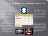 Effect of Depression on Adolescent Alcohol Use