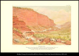 [Echo Canyon. Through this picturesque mountain gateway of Utah passed the Donner Party, the...