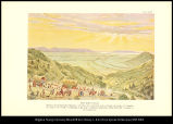 [Salt Lake Valley. Pioneers descending Little Mountain into their New Homeland where through the...