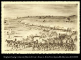 [Wagon Train.  Smith, Jackson, Sublette outfit leaving St. Louis 1830]