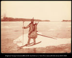 A Goldes Bear Hunter Traveling on the frozen Amur River  #1140