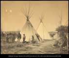 Black lodge camp of the Crow Indians - Crow Agency, Montana.  Made by C. S. Jackson in 1898