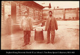 Convicts carrying the soup barrel.  Khabarofsk  [Khabarovsk].  #1162