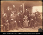 Siberia.  Group of Military.  Council and Civil officers with members of the commission. ...