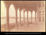 Taj Mahal, from the palace at Agra.  #536