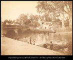 India.  Bathing place on the Cauveri [sic. Cauvery] River between Srirangam and Trichinopoly....