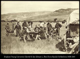 Personnel of the expedition of 1870 in camp at Red Buttes, Wyoming