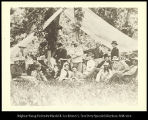 "Hunting and camping party from Fort A. Lincoln, at Little Heart- River, 1872.""(List of people..."