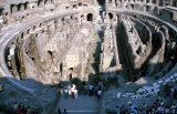 Inside Colosseum in Rome