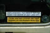 Car Bumper Sticker Against Jerusalem Center
