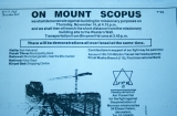 Newspaper Announcement of Protest on Mount Scopus