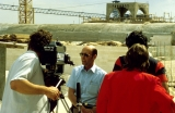David Galbraith Being Interviewed by CNN at Jerusalem Center Site