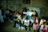 Jerusalem Center Students Studying About Jesus' Youth in Old Nazareth Synagogue