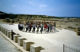 Jerusalem Center Students Dancing on Stage of Caesarea Theatre