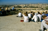 Jerusalem Center Students Studying Book of Lamentations Overlooking Temple Mount
