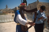 Man Playing Harp at Temple Mount Being Arrested