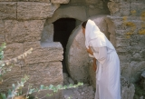 BYU Student Reenactment of Mary Stooping Down and Looking in Jesus' Tomb